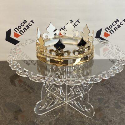 Стол и корона из оргстекла